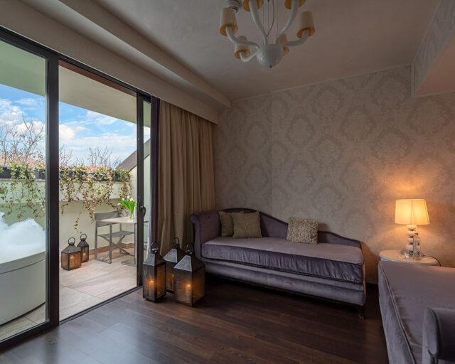 Suite mit Terrasse und Aussenwhirlpool